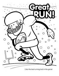 Small Picture Super Bowl Football Coloring Book 10 pages Printable Super