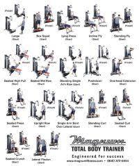 York 2001 Home Gym Exercise Wall Chart York Perform