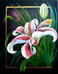 acrylics instructional lesson spring lily by marion dutton at arttutor