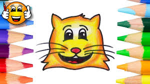 Small Picture Coloring Pages for Kids Cute Cat Face Coloring Book Videos