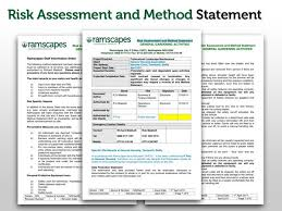 Method Of Statement Sample Disaster preparedness kits for sale risk assessment and method 31