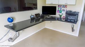 build a custom floating desk diy floating desk home13 desk