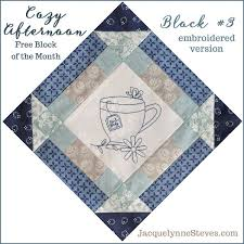 1533 best BLOQUES PARA TRABAJOS images on Pinterest | Patchwork ... & Cozy Afternoon Free Block of the Month, Block This is the embroidered  version, pattern also has options for applique or just piecing. Adamdwight.com