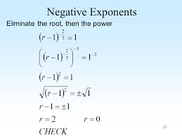 strategy for solving equations with exponents and radicals