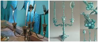 mermaid party decor ideas chandelier centerpiece the little