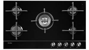 fisher paykel 900mm 5 burner natural gas on glass cooktop black harvey norman au