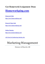 marketing managment assignment get homework assignment done homeworkping com homework help