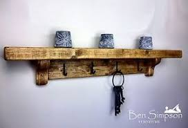 Wooden Coat Rack Chunky Rustic Wooden Coat Rack Shelf Shelves Coat Stand Clothes 50