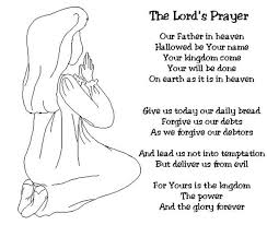 Small Picture Little Girl Doing Lords Prayer Before Sleep Coloring Page