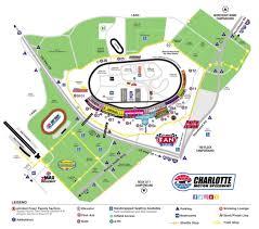 Map Of Charlotte Motor Speedway