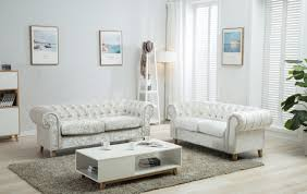 home and furniture chesterfield. Canterbury Artic Silver Crushed Velvet Chesterfield Sofa Home And Furniture