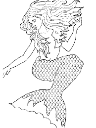 Small Picture Print Mermaid Coloring Pages For Kids New On Plans Free Animal