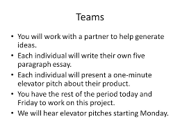 intro to engineering design ppt video online  teams you will work a partner to help generate ideas