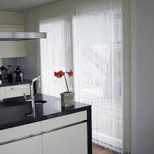 white string curtain panel