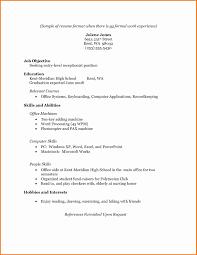 Resume Sample Format Beautiful Simple Resume Samples Atchafalaya