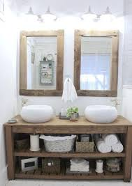 new rustic chunky solid wood bathroom sink vanity unit handmade any size