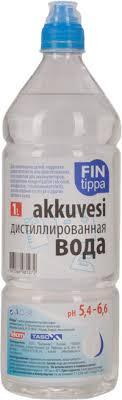 <b>Вода дистиллированная FIN TIPPA</b> 1л,ПЭТ бутылка – купить в ...