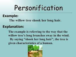 figure of speech personification example