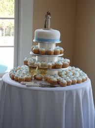 Jadeycakes Blue And White Wedding Cake And Cupcakes