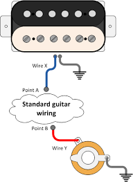 guitar wiring explored adding a blower switch seymour duncan there will be a wire from your bridge pickup to ground and there will be an output wire too represented by the blue wire wire x on the diagram