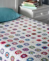 Granny Square Blanket Pattern Impressive Sunburst Granny Square Blanket Free Crochet Pattern