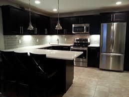 kitchen  modern vertical white glass subway tile kitchen