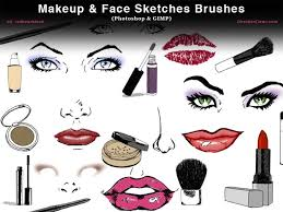 makeup face sketches photo and gimp brushes by redheadstock deviantart on deviantart Кисти ps best gimp