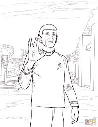 Small Picture Star Trek Spock coloring page Free Printable Coloring Pages