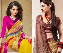 actress y hairstyles for designer sarees