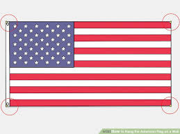 image titled hang the american flag on a wall step 10