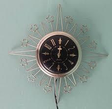 midcentury vintage wall clocks