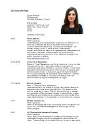 English Curriculum Vitae Cv English Template