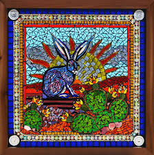 easter in texas a glass on glass mosaic stained glass window