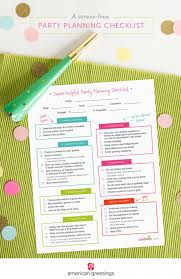 Party Planner Checklist Template A Stress Free Party Planning Checklist And A Free Printable