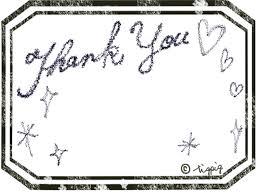 Thank Youの手描き文字とモノトーンのアンティークラベル風枠640480pix