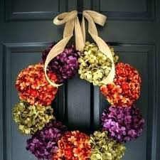 outdoor fall wreaths front door hydrangea wreath autumn colors for outdoor fall wreaths front door