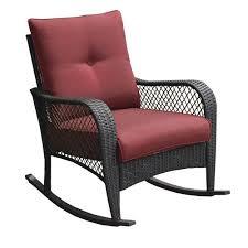 backyard creations maple grove rocker patio chair in red
