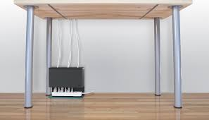 keep your cords clean and concealed with plug hub an under desk cord management