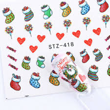 Santa Watermark Details About 16 Sheets Xmas Snowman Santa Claus Nail Art Water Decal Stickers Watermark Decor