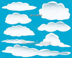 Clouds Design Stock Photo Set Different Shape Clouds Design Usage Image
