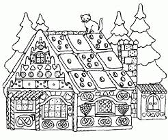 Small Picture The Incredible Gingerbread House Coloring Page for House Cool