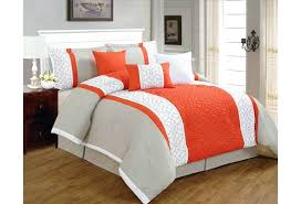 black and white full size comforter 7 pieces luxury c orange grey and white quilted linen