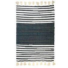 black and white striped hand woven cotton rag design area rugs for carpet