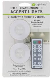 Capstone Lighting Remote Change Battery Details About Capstone Wireless Led Surface Mounted Accent Lights W Remote 2 Count