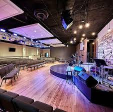 Church Stage Platform Design Rounded Seating Arrangement And Platform Church Design