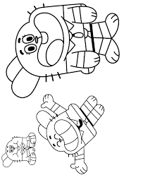 Graffiti Gumball Color Colouring Pages Az Colorare