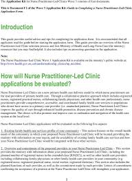 Tips For Completing Application Forms Guide To Completing A Nurse Practitioner Led Clinic Wave 3