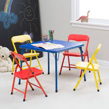 showtime childrens folding table and chair set multi color kids for toddlers ikea showtime tables