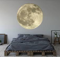 moon wall art decal mural space theme