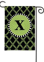 garden trellis monogram y garden flag